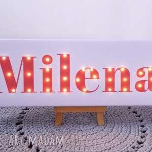 NAPIS LED Twoje Imię obraz personalizowany prezent urodzinowy lampka, imię