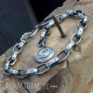 Unisex ag 925 - bransoletka 04 arvena srebro oksydowane