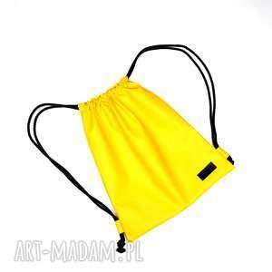 handmade plecaki worek plecak wodoodporny żółty