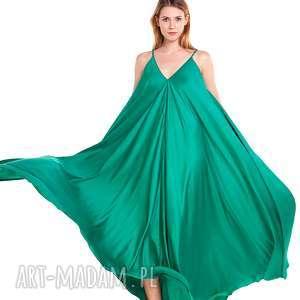 sukienka odeta - ciążowa, wesele, moda, szmaragdowa