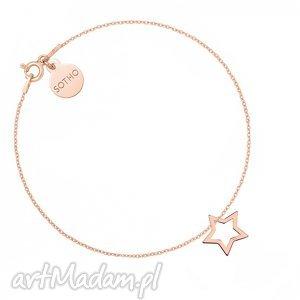 hand made bransoletki bransoletka z różowego złota z gwiazdką