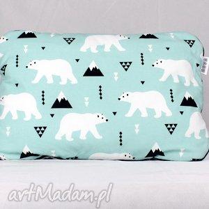 płaska poduszka do łóżeczka niedźwiedź polarny - poduszka