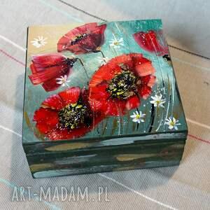handmade pudełka szkatułka. Maki