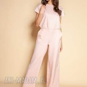 handmade ubrania kombinezon z odkrytymi plecami - kb121 różowy