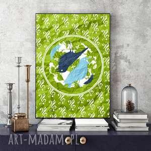 PTASIA MUZYKA... ILUSTRACJA A4, plakat, ptaki, wydruk, a4, dekoracja, obraz
