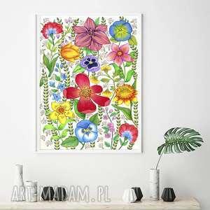 Kwiaty a2 malgorzata domanska plakat, plakaty, obraz, sztuka