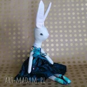 królik lalka szyta dekoracyjna, królik, lalka, bawełna