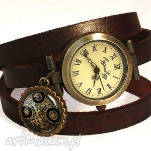 handmade zegarki time lord seal - zegarek / bransoletka na skórzanym pasku