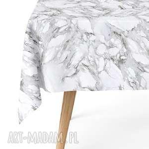 obrus 140 x 240 cm matowy wodoodporny easy iron crata marmur, obrus, nowoczesny