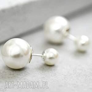 Prezent 925 srebrne podwójne kolczyki Perełki , kolczyki, perełki, biżuteria, berlin