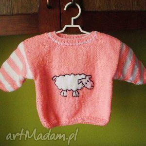 Sweterek Owieczka , sweterek, rękodzieło, mięciutki, niemowlę