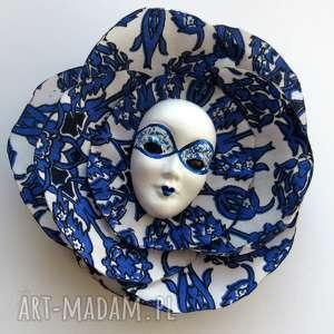 Atramentowe niebo - broszka z Kolekcji Masquerade, maska, wenecka, broszka, przypinka