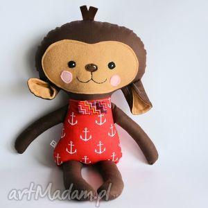 maskotki małpka leoś 45 cm, małpka, chłopczyk, marynarz, roczek, chrzciny, maskotka