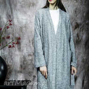 długi sweter/płaszczyk z kieszeniami, sweter, rustic, wełna, kieszenie, płaszczyk
