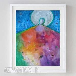 Anioł -akwarela formatu a5 paulina lebida anioł, papier,