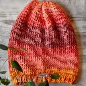 kolorowa letnio-wiosenna czapka z bawełny, czapka, bawełniana, nagłowę