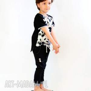 ubranka spodnie czarne baggy, spodnie, black, dziecko, wiosna, dzianina