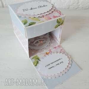 spod igly maryski exploding box, prezent, dekoracja, ślub, oryginalny