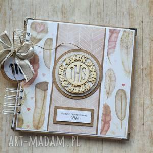 album - wyjątkowy prezent na komunię/ chrzest / ślub w piórach, prezent, sesja