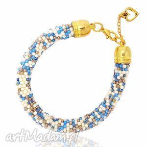 Melange Blue, bransoletka, koralikow, toho, koralikowa