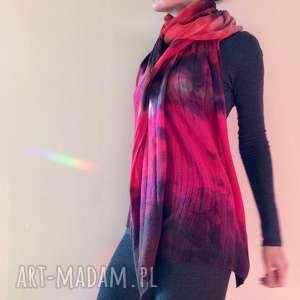 handmade szaliki ognisty wełniany szal