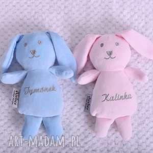 handmade maskotki przytulanka dziecięca królik z imieniem