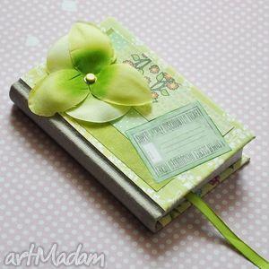 notesy zielony storczyk, scrapbooking, scrap, notes, notatnik