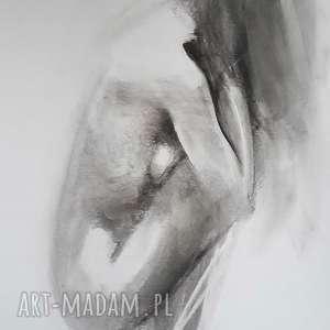 akt 50x70, rysunek-akt, obraz-akt-kobiecy, kobieta-obraz, czarno-biały-obraz
