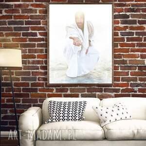 """Jezus chrystus """"choć za mną """" nowoczesny obraz plakaty vandeart"""