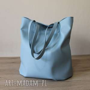 handmade na ramię worek hobo - niebieski błękitny