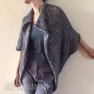 melanżowy kardigan w kształcie kokonu, sweter, kardigan, kamizelka, dzianina