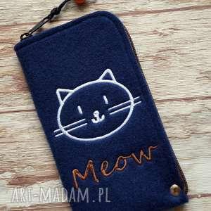 Prezent Filcowe etui na telefon - meow, pokrowiec, smartfon, kot, motyw, prezent
