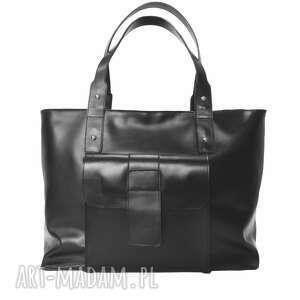 skórzana torba xxl czarna, xxl, torebka, na zakupy