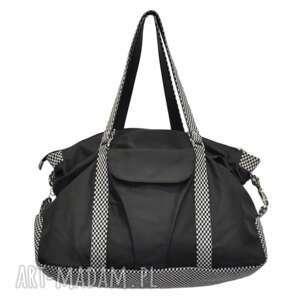 07-0011 Czarna torebka sportowa / torba fitness PIGEON, modne, markowe, torebki