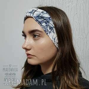 melat15 opaska na włosy cieńsza, jersey, handmade, opaska, do włosów, retro