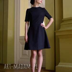 tuniki klasyczna sukienka / czarna - jacklyn, prosta sukienka, mała czarna, lekko