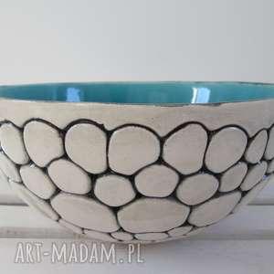 turkusowa misa ceramiczna z kulek, miska, duża, na-owoce, ceramiczna,