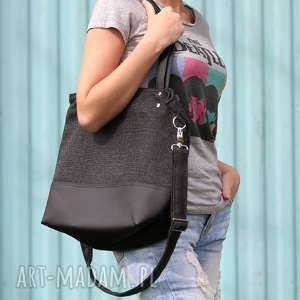 handmade torebki torebka miejska sky colors - czarny harry