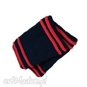 rękawiczki mitenki czerwone i czarne, mitenki, czerwone