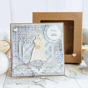 pamiątka ślubu kartka miłosna w pudełeczku personalizowana treść