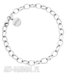 srebrna masywna bransoletka, masywna, bransoleta, gruba, łańcuch