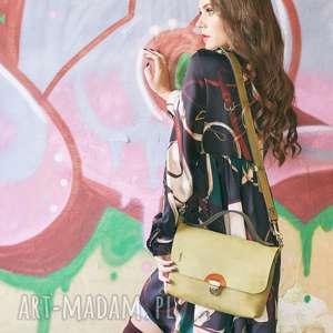 ręcznie wykonana skórzana mała torebka na drobiazgi ann w kolorze limonkowym