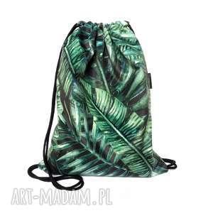 plecak worek tropic, plecak, worek, palmy, tropik, tropikalne, welurowy