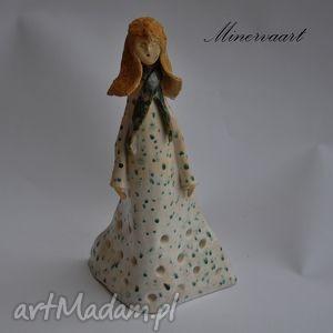 Kobiecy świecznik, figurka, ceramika, lampion, postać