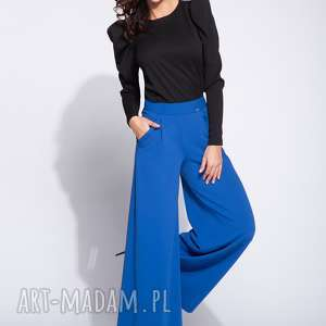 Bien fashion niebieskie spodnie z szerokimi nogawkami szerokie