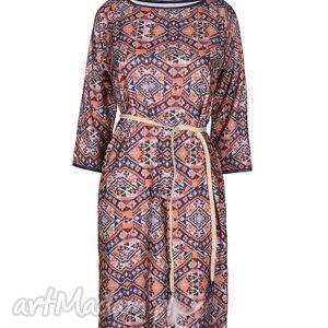 sukienki sukienka boho style - arancione etnic, sukinka, boho, etniczny