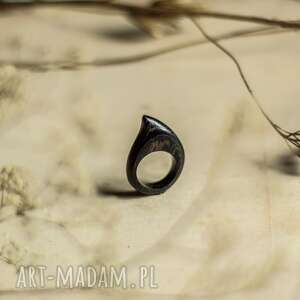 pierścionek z drewna wenge, pierścionek, drewniana biżuteria