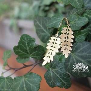Kolczyki floral anna grys kolczyki, liscie, znowuzielona