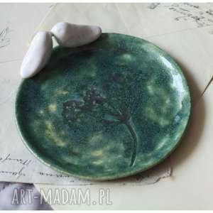 ceramika średni talerzyk szmaragdowy, ceramika, talerzyk