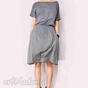Sukienka z kieszeniami, midi, potpourri